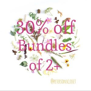 SALE! Bundle any 2+ items, get 30% off!